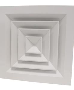 grelha quadrada de 4 vias