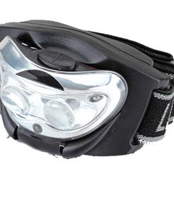 A Lanterna Frontal em LED das lojas Haiceland tem fita ajustável, 2 LED´s foco luz branca e um 1 LED vermelho de presença. Saiba mais em www.haiceland.com