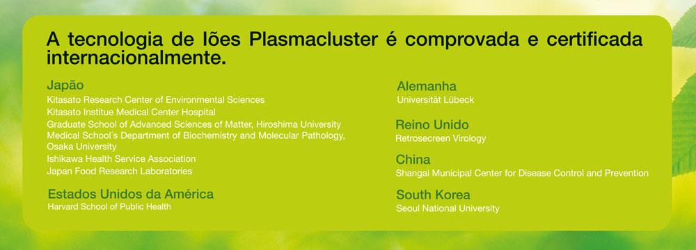 Plasmacluster-certificacoes
